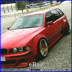 Fender flares for BMW E39 CONCAVE wide body kit wheel arches ABS 70mm+110mm 4pcs