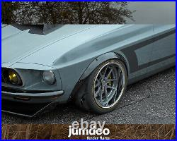 Fender flares for Ford Mustang 1965-1973 wide body kit wheel arch 50mm+90mm 4pcs