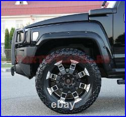 Fenders Flares Off-Road Sports (8pcs) + Fasteners Kit for Hummer H3