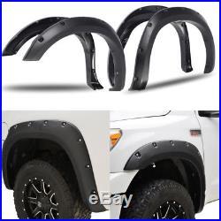 Fenders Flares Wheel Covers Kit For 07-13 Toyota Tundra Pocket Rivet Bolt Style