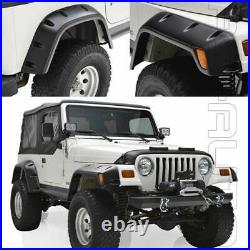 Fit 1997-2006 Jeep Wrangler TJ Texture 6PC Kit 6 Pocket Style Fender Flares