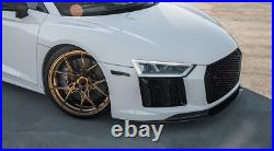 Fit For Audi R8 2016-2018 Front Bumper Lip Splitters Spoiler Dry Carbon Fiber