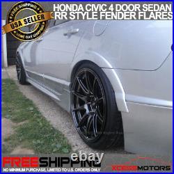 Fits 06-11 Honda Civic 4Dr Sedan RR Style Front Rear Fender Flares Unpainted ABS