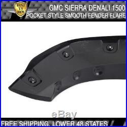 Fits 07-13 Sierra 5.8 FT Short Bed 69.3 Boss Pocket Rivet Fender Flares 4pcs