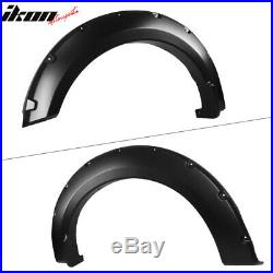 Fits 18-19 Ford F150 Offroad Pocket Style Fender Flares 4PC Smooth Black PP