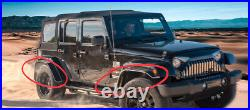 Fits 2007-2018 Jeep Wrangler Tactical Jeep JK JKU Fender Flares Stainless Steel