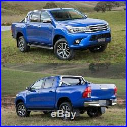 Fits Toyota Hilux Revo 2015-2018 Matte Black 6Pcs Kit Fender Flares Wheel Arch