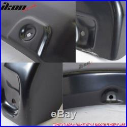 Fits Toyota Tundra 07-13 Boss Pocket Rivet Extended Fender Flare Smooth Black