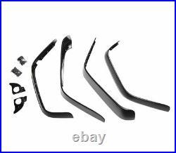 Flat Fender Flare Kit Black 4 pc for Jeep Wrangler JK 2007-2018 391162010