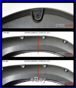 For 04-15 Nissan Titan Textured Blk Pocket Bolt Rivet Style Fender Flares Cover