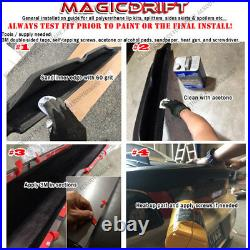 For 90-97 NA Mazda Miata MX5 Front + Rear 60mm Wide Fender Flares Body Kit 4pcs