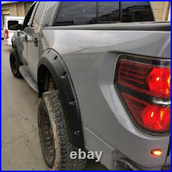 For Ford F150 Wheel Arch Fender Flares 4PCS Black Cover Trims 2009 -2014