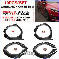 For Ford Focus RS ST 2015-2018 Primer Fender Flare Kit Wheel Arch Cover Trim 10X