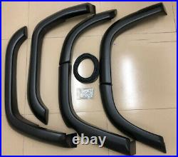 For Land Cruiser LC76 Wheel Arch Fender Flares Black Cover Trims