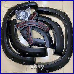 For Land Cruiser Prado LC150 Wheel Arch Fender Flares Black Cover Trims 2013 -17