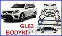 For Mercedes Benz GL x166 BODY KIT GL63 2012 2015 bumper fender flares