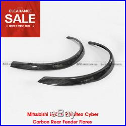 For Mitsubishi EVO 8 9 VOX Style Cyber Carbon Rear Fender Flares Kits