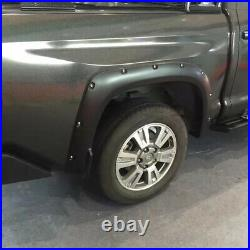 For Toyota Tundra Wheel Arch Fender Flares 4PCS Black Cover Trims 2014 -2021