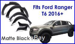 Ford Ranger 2016 + T6 Facelift Raptor Wheel Arch Kit Fender Flares MATTE BLACK