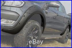 Ford Ranger Wide Body Wheel Arch Kit Matte Fender Flare. (6pc set)