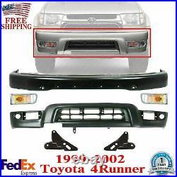 Front Primed Bumper + Valance + Lights + Bracket For 1999-2002 Toyota 4Runner