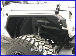 Front/Rear Aluminum Fender Flares Kit for Jeep Wrangler JK