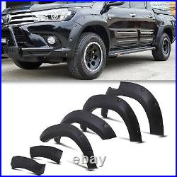 Front Rear Wide Body Wheel Arch Fender Flare Kit For Toyota Hilux Revo 15