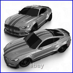 Front widebody fender flares LION'S KIT V1 for Ford Mustang VI 6 S550 15-17