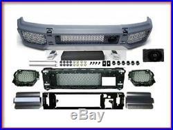 G63 Bumper + 4 Fender Flares G-Class AMG Body Kit G500 G55 Conversion G-Wagon