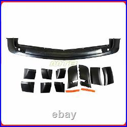 HC Style Front Bumper Widebody Fender Flares Amber Markers For 15-20 Challenger