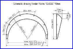Honda Civic EJ9 Fender flares wide body kit wheel arch 3.5 90mm 4pcs