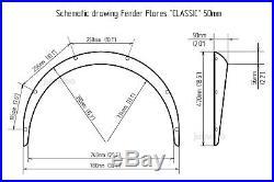 Honda Integra Fender flares wide body kit wheel Arch Extensions 50mm 4pcs set