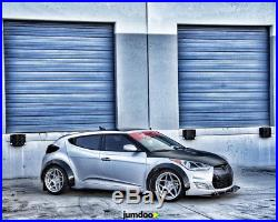 Hyundai Veloster Fender flares CONCAVE wide body kit Arch Extension 70mm + 90mm