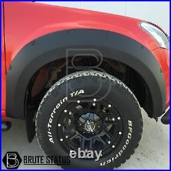 Isuzu D-Max 2012+ Wide Wheel Arch Kit Extended Fender Flares Matt Black Dmax