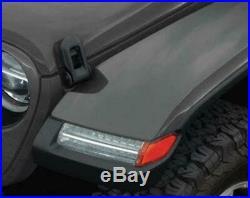 Jeep Wrangler JL High-Top Paintable Rubicon LED Fender Flare Kit OEM MOPAR