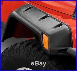 Jeep Wrangler YJ 6 Textured Black Fender Flare Kit 1987-1995 Smittybilt 17191