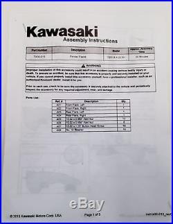 Kawasaki Fender Flare Kit Teryx4 2016-2019 Black New OEM TX000-15