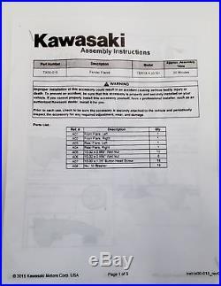 Kawasaki Fender Flare Kit Teryx4 2016-2019 Black New OEM TX000-15 hd
