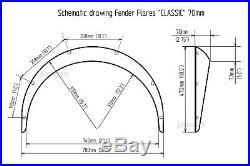 LADA VAZ 2101-2107 Fender flares JDM wide body kit wheel arch 2.75 70mm 4pcs