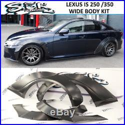 Lexus IS 250 / IS 350 Wide Body Kit 10 Pcs. Full Fender Flares Set 35 mm width