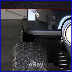 MCE Flexible Fenders Gen II Black 4.5 Fender Flare Kit Jeep Wrangler TJ 1997-06