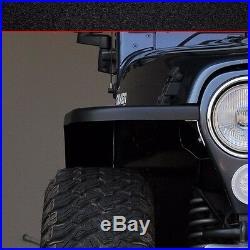 MCE Flexible Fenders Gen II Black 6 Fender Flare Kit Jeep Wrangler TJ 1997-2006
