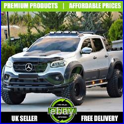 MERCEDES X CLASS 2017- Fender Flare Wheel Arch Kit Extended ADBLUE 2 CUT OUTS