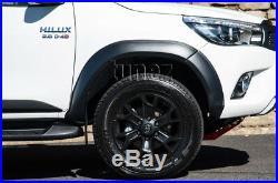 Matte Black Fenders Flare Kit For Toyota Hilux GUN GUN1 TRD Look Wheel Fender 2G