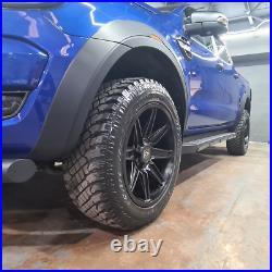 Matte Black XO Type-R Wheel Arch Kit Fender Flares Ford Ranger T6 2016-2019 PX2