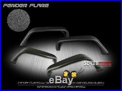Matte TU Style Steel Fender Flares Wheel Cover+Side Marker 07-18 Wrangler 4Dr JK