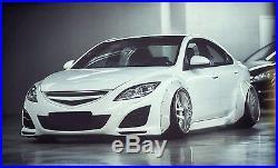 Mazda 6 Fender Flares CONCAVE Mazdaspeed6 wide body kit 2.75 + 3.5 4pcs