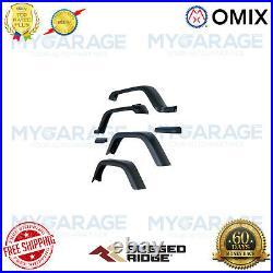 Omix For 1987-1995 Jeep Wrangler YJ Fender Flare Kit, 7 Inch 11607.01