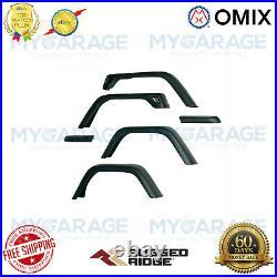 Omix For 1997-2006 Jeep Wrangler TJ Fender Flare Kit, 7 Inch, Including Hardware