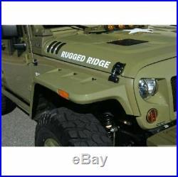 Omix Hurricane Fender Flare Kit, EU, Smooth for 07-18 Jeep Wrangler JK # 11640.26